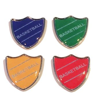 BASKETBALL shield badge